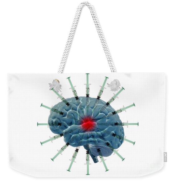 Brain With Syringes Weekender Tote Bag