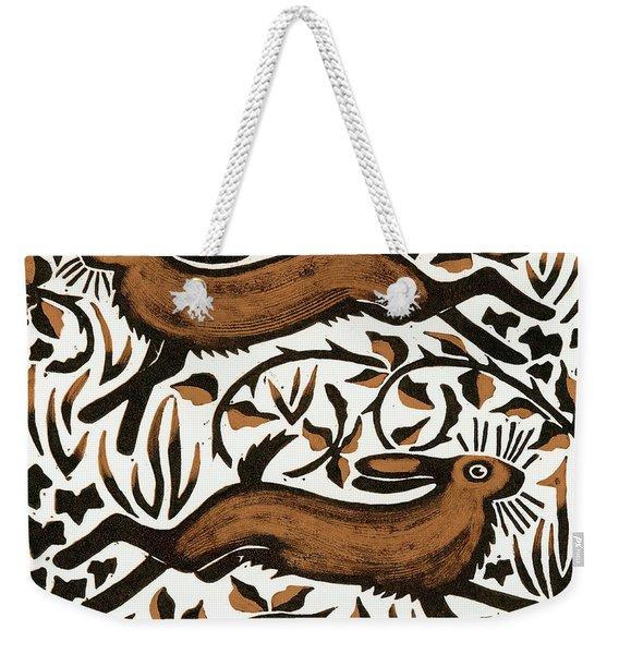 Bramble Hares Weekender Tote Bag