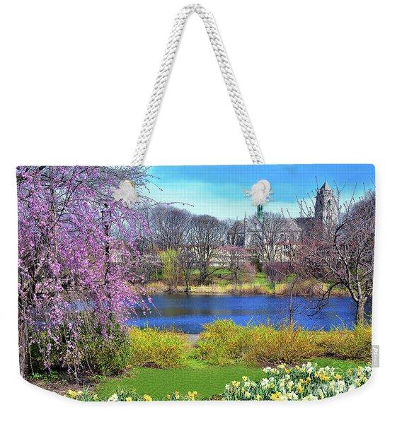 Branch Brook Lake And Cathedral Weekender Tote Bag