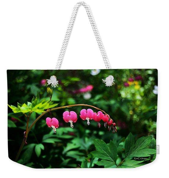 Branch Of Bleeding Heart Blooms Weekender Tote Bag