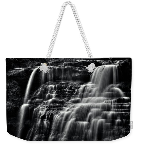 Brandywine Falls At Cuyahoga Valley National Park B W Weekender Tote Bag