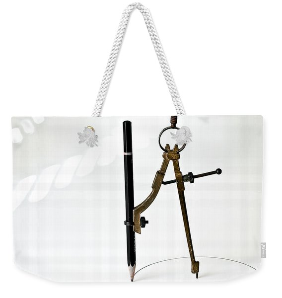 Brass Compass And Pencil Weekender Tote Bag