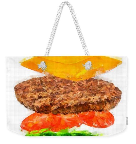 Brazilian Salad Cheeseburger Weekender Tote Bag