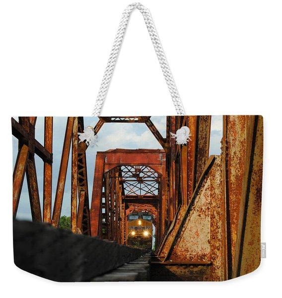Brazos River Railroad Bridge Weekender Tote Bag