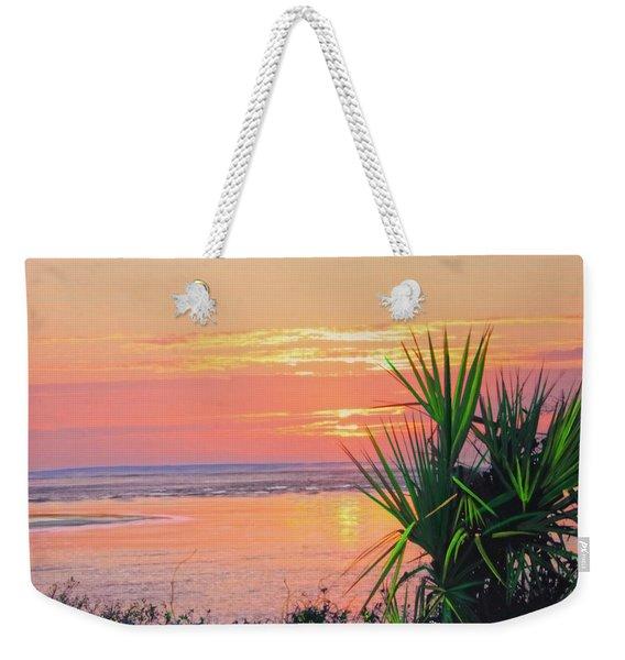 Breach Inlet Sunrise Palmetto  Weekender Tote Bag