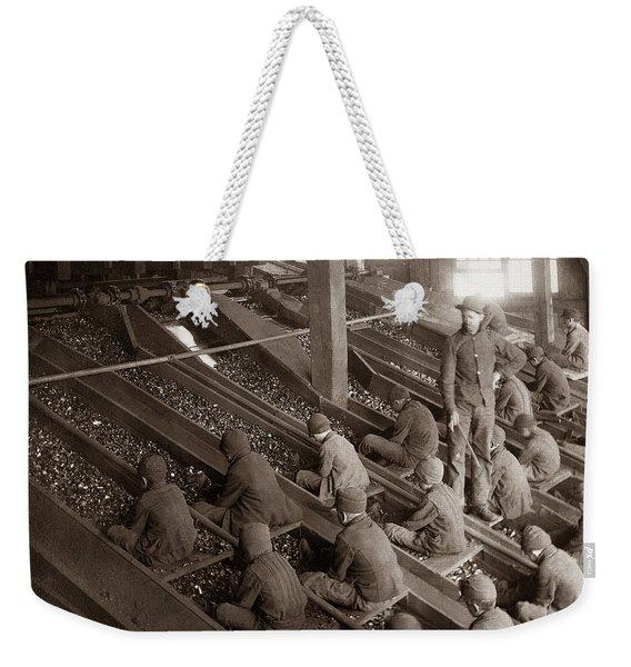 Breaker Boys Lehigh Valley Coal Co Maltby Pa Near Swoyersville Pa Early 1900s Weekender Tote Bag