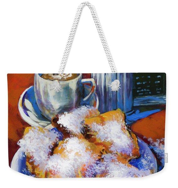 Breakfast At Cafe Du Monde Weekender Tote Bag