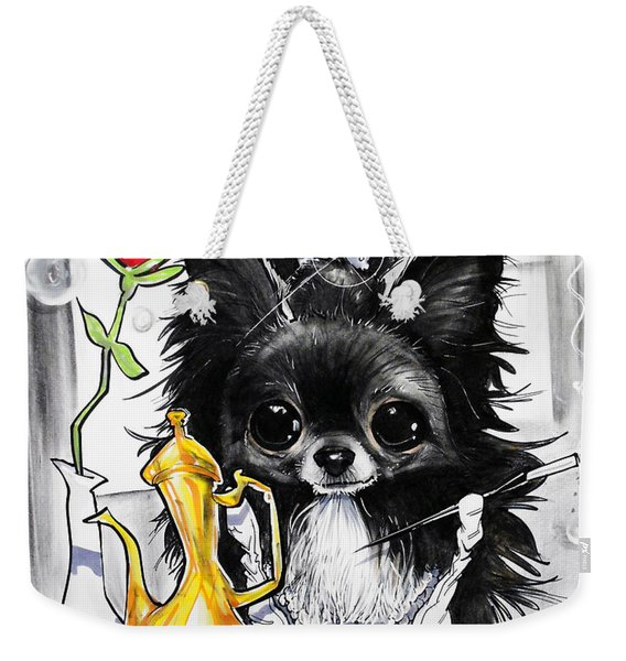Breakfast At Tiffany's Papillon Caricature Art Print Weekender Tote Bag