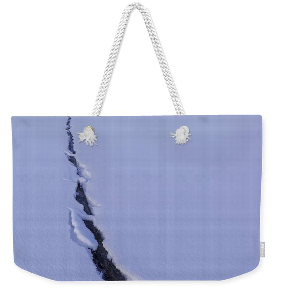 Breaking Ice Weekender Tote Bag