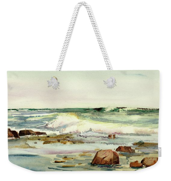 Breaking Seas Weekender Tote Bag