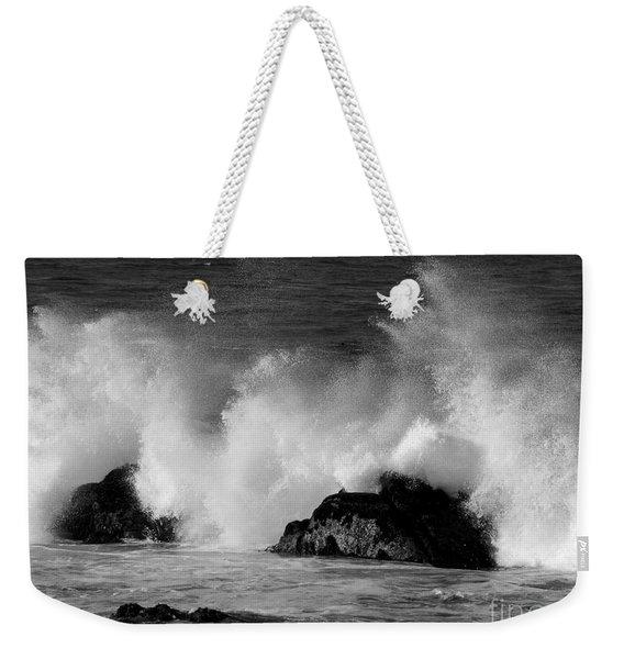 Breaking Wave At Pacific Grove Weekender Tote Bag