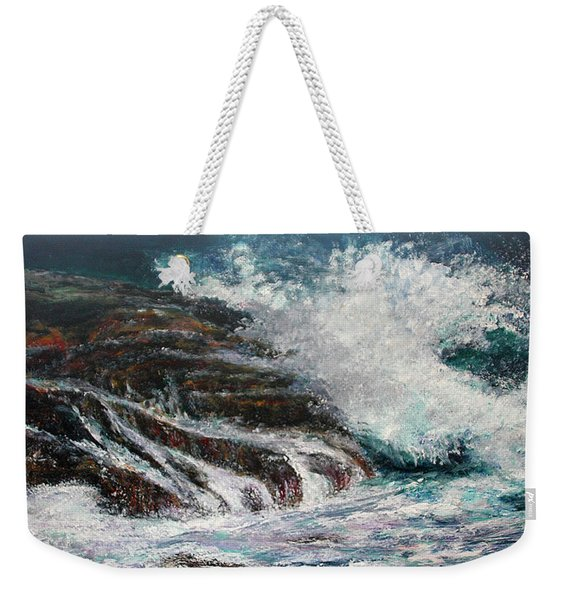 Breaking Wave Weekender Tote Bag