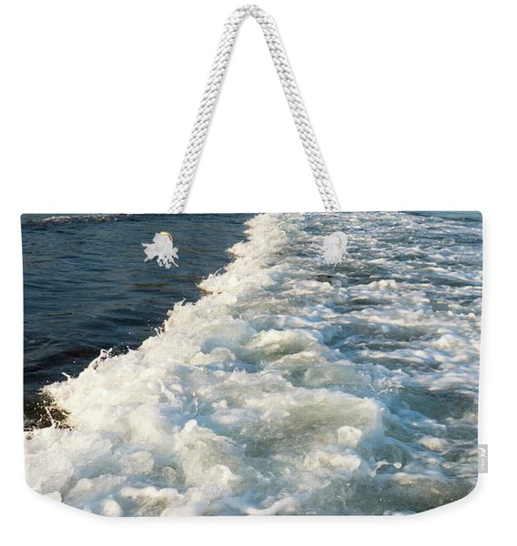 Weekender Tote Bag featuring the photograph Breaking Wave, Reid State Park, Georgetown, Maine  -80486 by John Bald