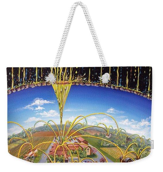 Weekender Tote Bag featuring the painting Breakthrough by Nancy Cupp