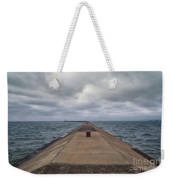 Breakwall Clouds Weekender Tote Bag
