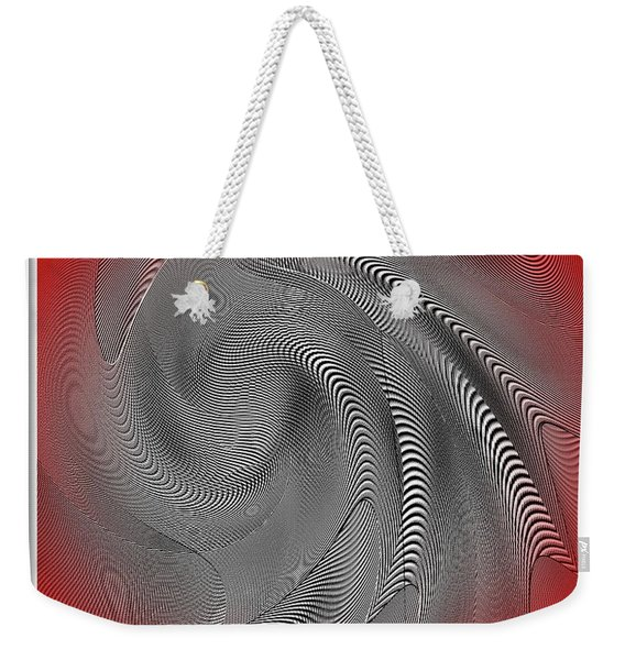 Weekender Tote Bag featuring the digital art Breathing Heart by Visual Artist Frank Bonilla
