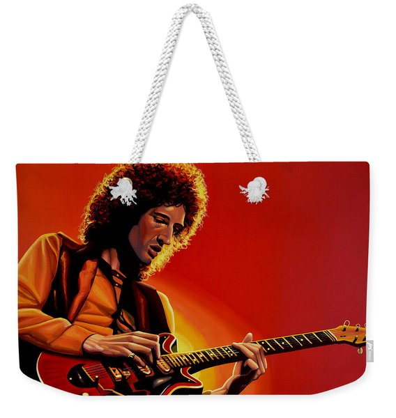Brian May Of Queen Painting Weekender Tote Bag