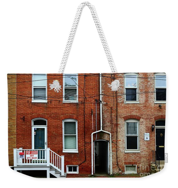 Brick Walls Windows And Drainpipes Weekender Tote Bag