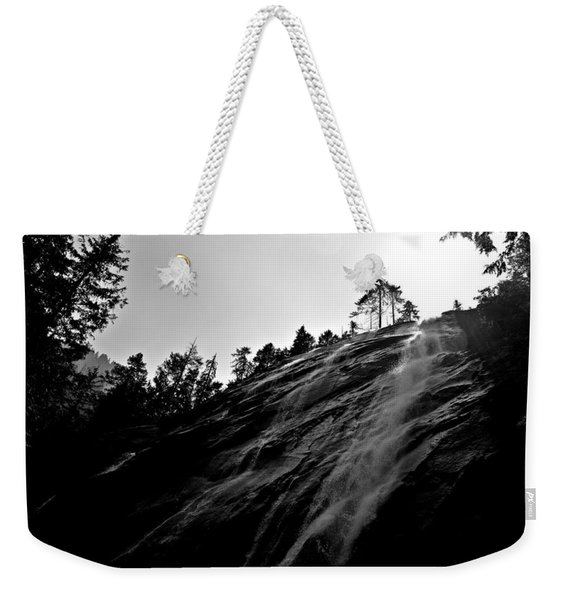 Bridal Veil Falls In Black And White Weekender Tote Bag