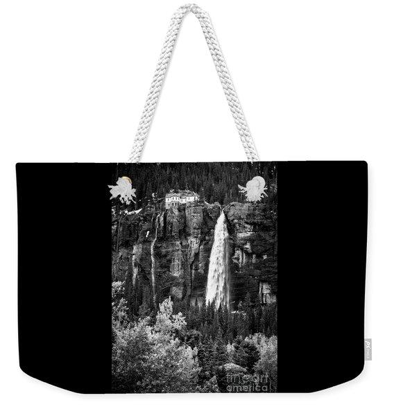 Bridal Veil Falls In Bw Weekender Tote Bag