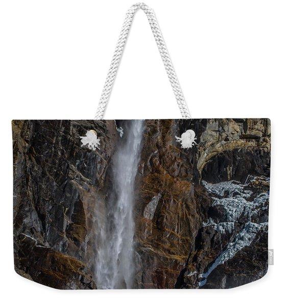 Bridal Veil Falls On Ice Weekender Tote Bag