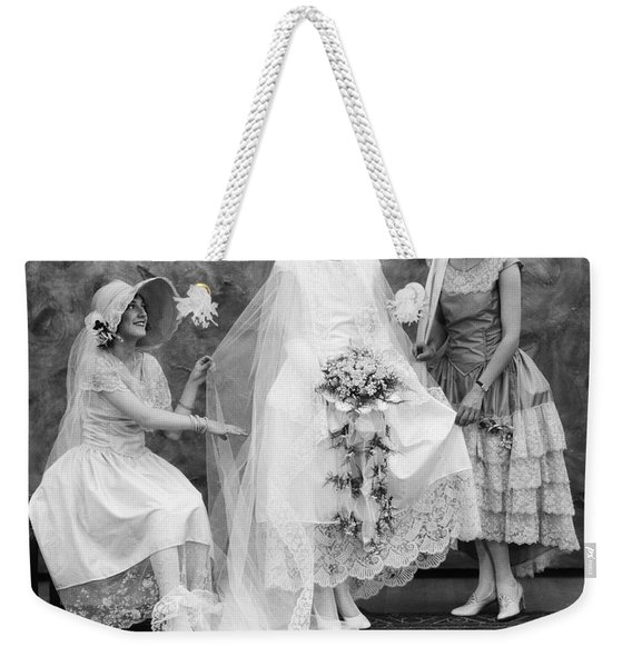 Bride And Bridesmaids, C.1900-10s Weekender Tote Bag
