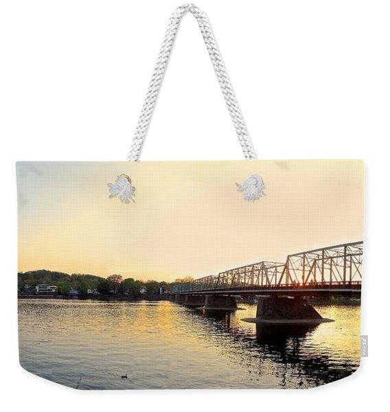 Bridge And New Hope At Sunset Weekender Tote Bag