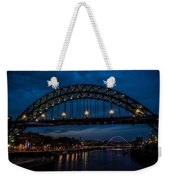 Bridge At Dusk Weekender Tote Bag