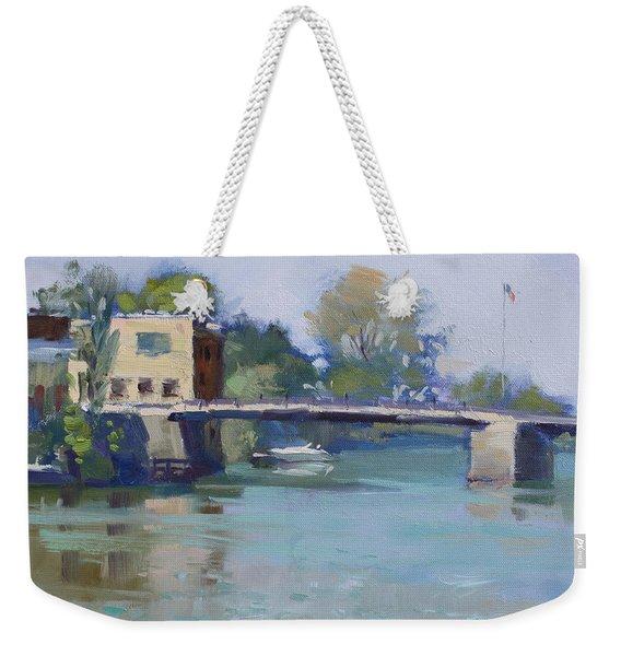 Bridge At Tonawanda Canal Weekender Tote Bag