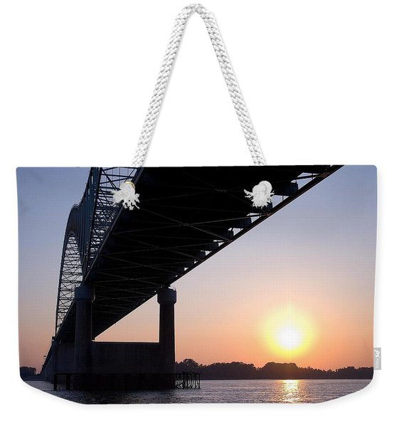 Bridge Over Mississippi River Weekender Tote Bag