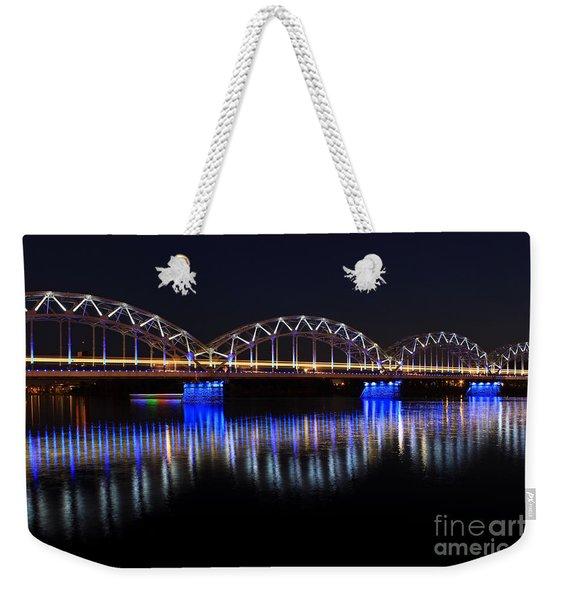 Bridge In Riga  Weekender Tote Bag