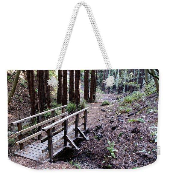 Bridge In The Redwoods Weekender Tote Bag