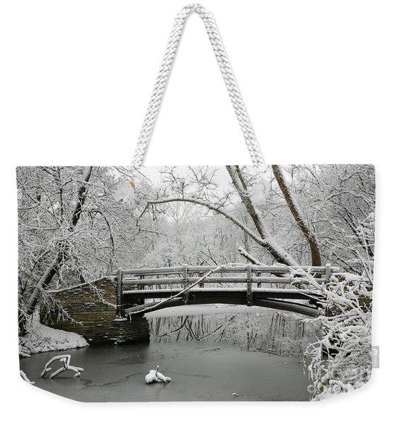 Bridge In Winter Weekender Tote Bag