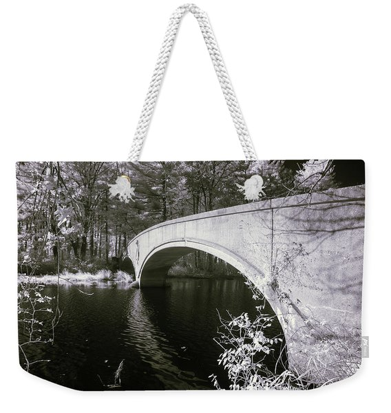Bridge Over Infrared Waters Weekender Tote Bag