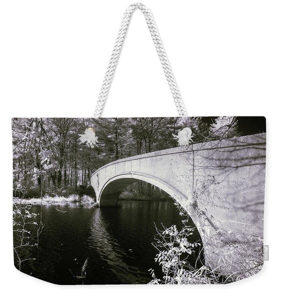 Bridge Over Infrared Waters Weekender Tote Bag
