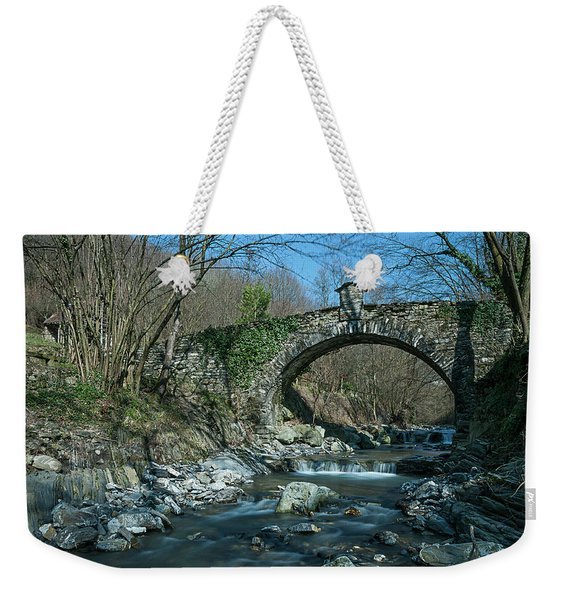 Bridge Over Peaceful Waters - Il Ponte Sul Ciae' Weekender Tote Bag