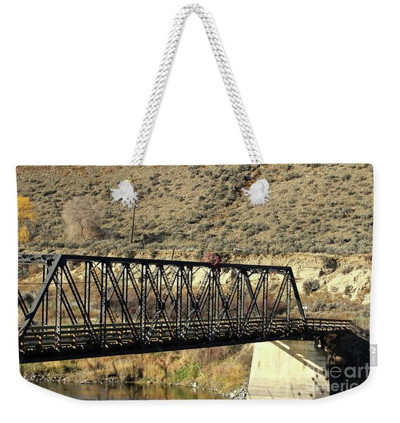 Bridge Over The Thompson Weekender Tote Bag
