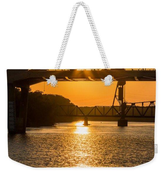 Bridge Sunrise #2 Weekender Tote Bag