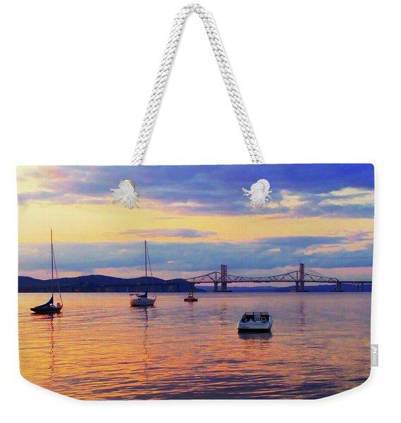 Bridge Sunset Weekender Tote Bag