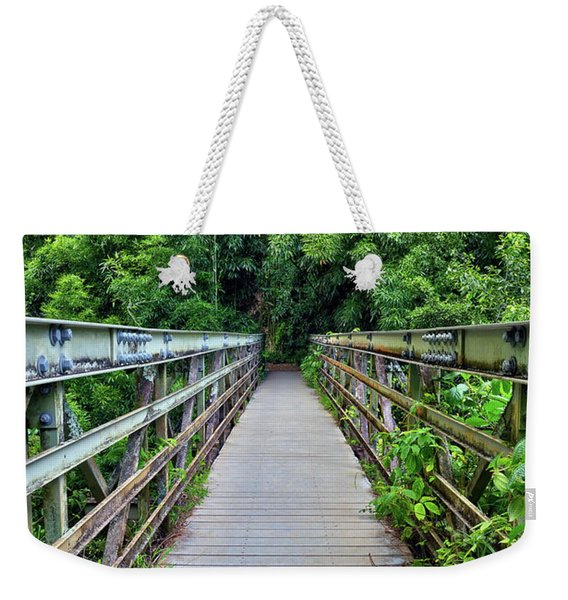 Bridge To Bamboo Forest Weekender Tote Bag