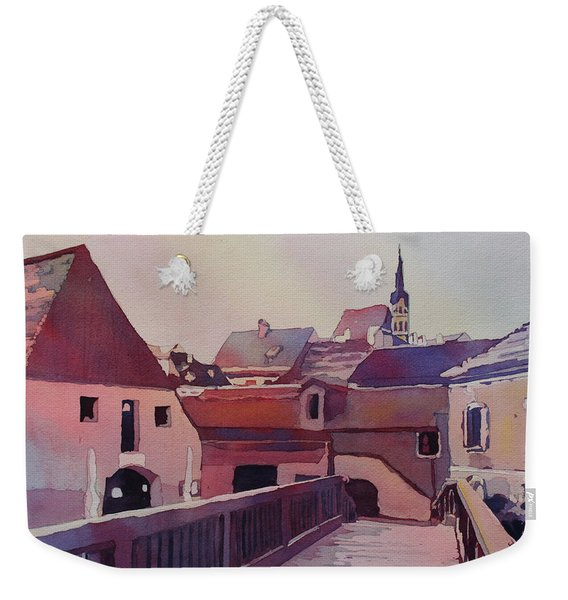 Bridge To Cesky Krumlov Weekender Tote Bag