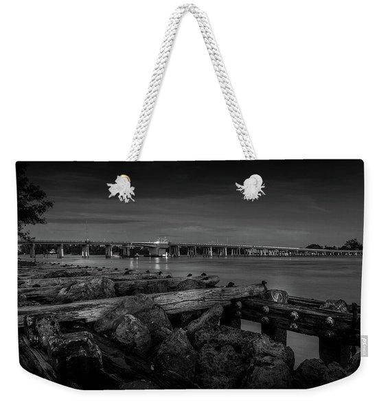 Bridge To Longboat Key In Bw Weekender Tote Bag