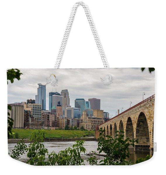Bridge To Minneapolis Weekender Tote Bag