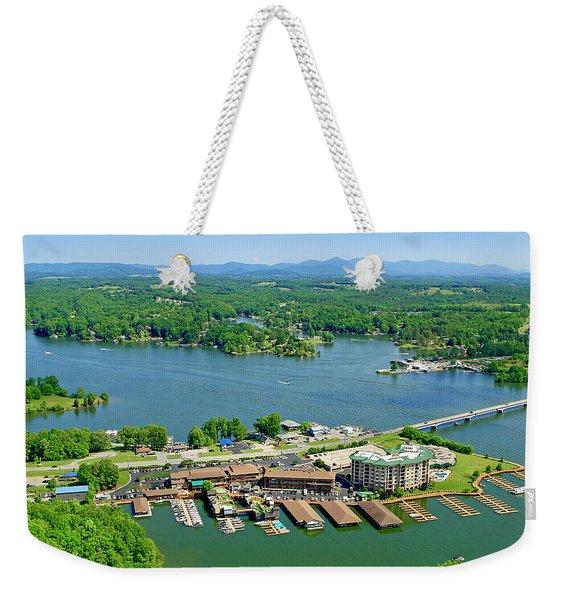 Bridgewater Plaza, Smith Mountain Lake, Virginia Weekender Tote Bag