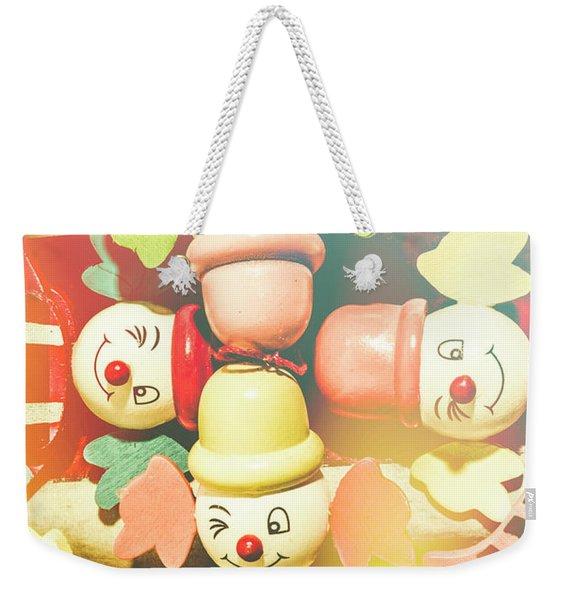 Bright Beaming Clown Show Act Weekender Tote Bag