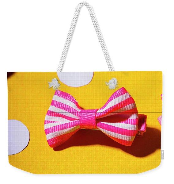 Bright Bow Tie Gallery Weekender Tote Bag