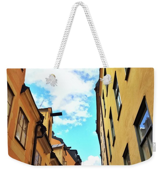 Bright Buildings In The Old Center Of Stockholm Weekender Tote Bag
