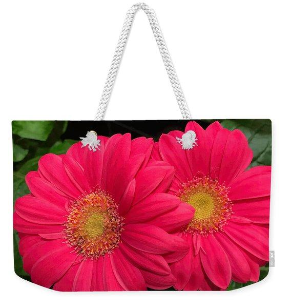 Bright Gerbera Duette Weekender Tote Bag