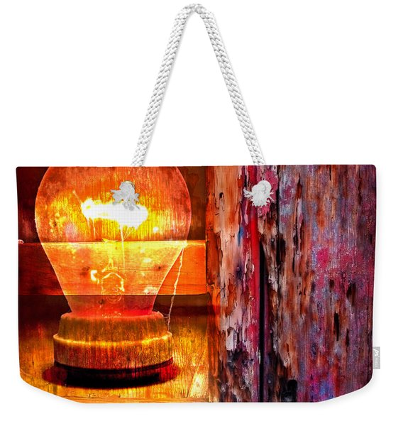 Weekender Tote Bag featuring the photograph Bright Idea by Skip Hunt
