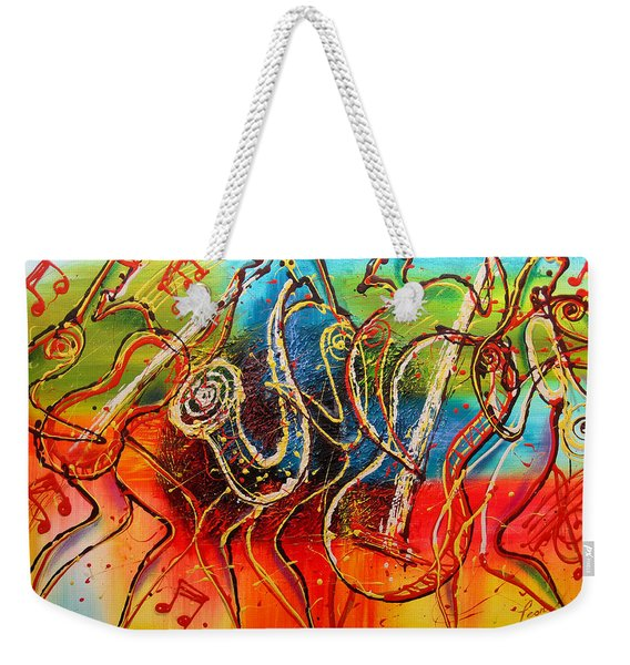 Bright Jazz Weekender Tote Bag